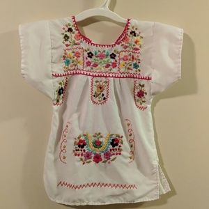 Other - Baby girl Mexican embroidered dress